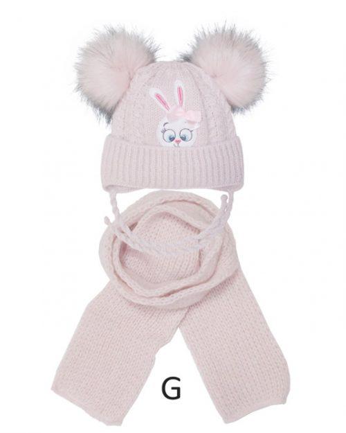 Czapka zimowa z szalikiem komplet dla dziecka rozmiar 40-42