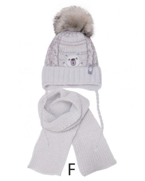 Szalik + czapka zimowa dla dziecka rozmiar 40-42