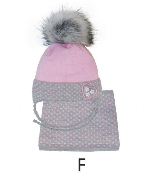 Komplet zimowy dla dziecka komin + zimowa czapka 46-48