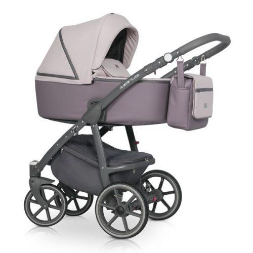Wózek głęboko spacerowy Riko Marla zestaw 2w1 kolor Dirty Pink