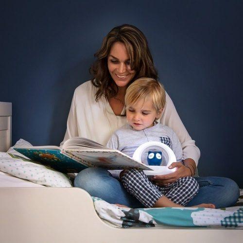 Ledowa lampka nocna dla dziecka Zazu sowa niebieska