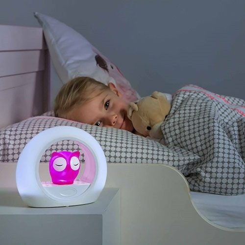 Nocna lampka Zazu różowa sowa lampka LED