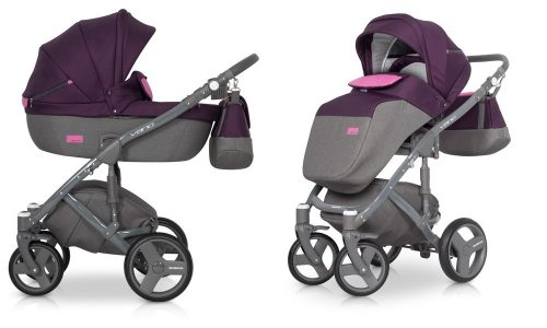 Wózek głęboko spacerowy Riko Vario zestaw 2w1 kolor Purple
