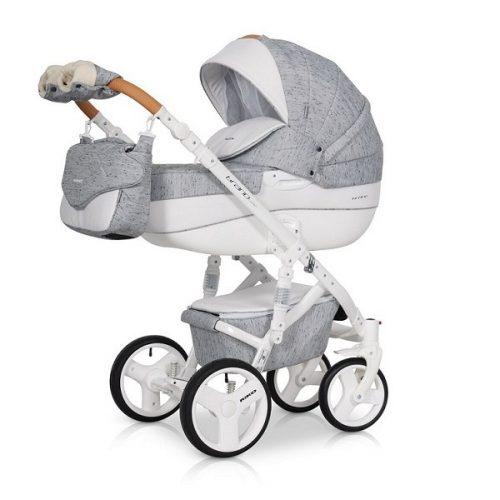 Wózek głęboko spacerowy Riko Brano Luxe zestaw 2w1 kolor Grey Fox