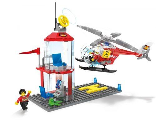 Klocki Blocki MyFireBrigade Lądowisko Helikoptera straż pożarna