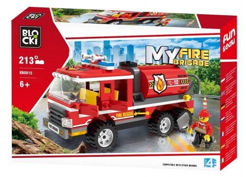 Klocki Blocki MyFireBrigade Beczkowóz 213 el. straż pożarna