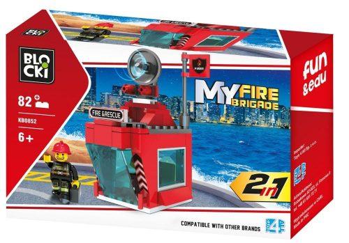 Klocki Blocki MyFireBrigade 2 W 1 82 el. straż pożarna