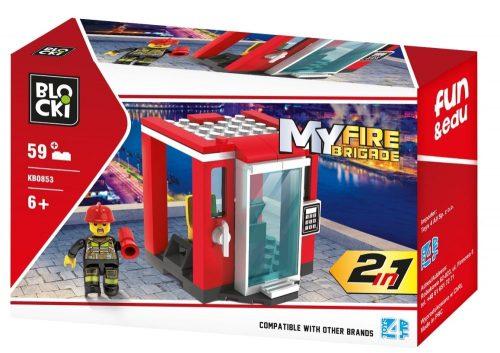 Klocki Blocki MyFireBrigade 2 W 1 59 el. straż pożarna