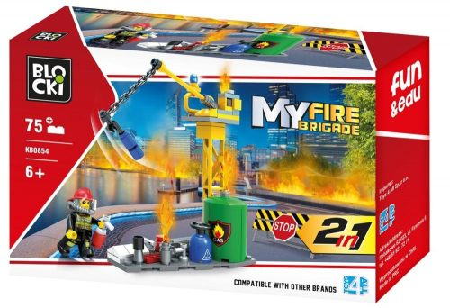 Klocki Blocki MyFireBrigade 2 W 1 75 el. straż pożarna