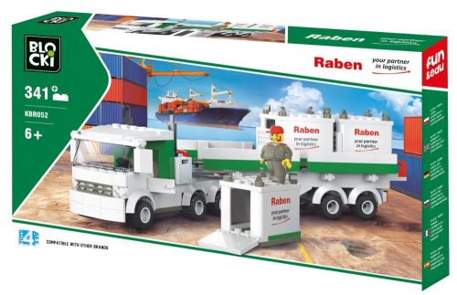 Klocki BLOCKI RABEN Ciężarówka kontenerowa 343el.