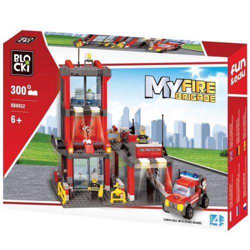 Klocki Blocki MyFireBrigade Remiza 300 el. straż pożarna