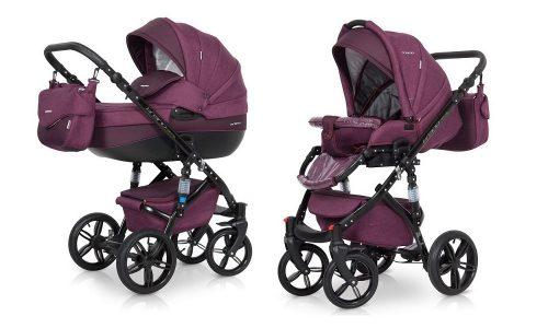 Wózek głęboko spacerowy Riko Barano Natural zestaw 2w1 kolor Purple