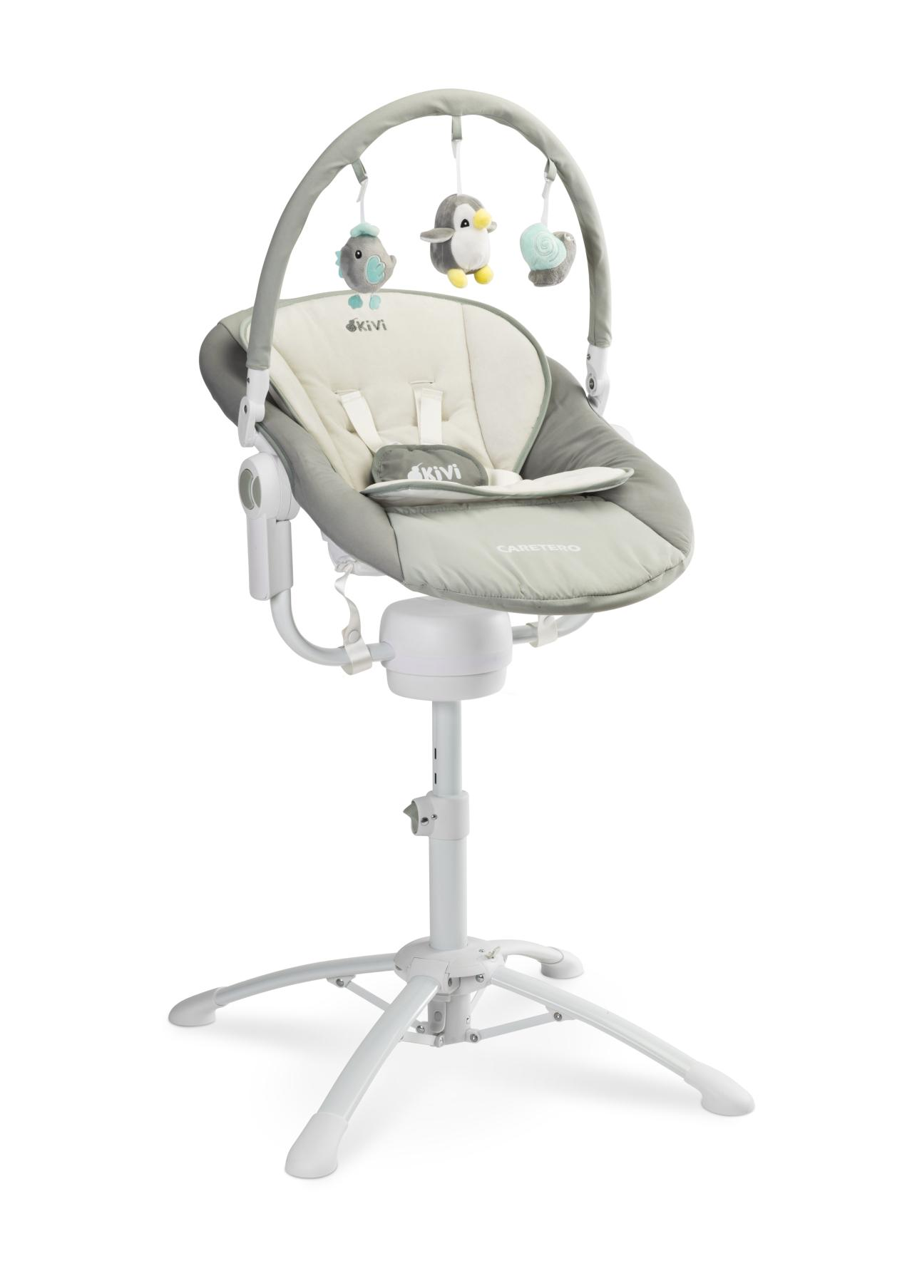 3w1 huśtawka leżaczek krzesełko do karmienia Kivi Caretero grey