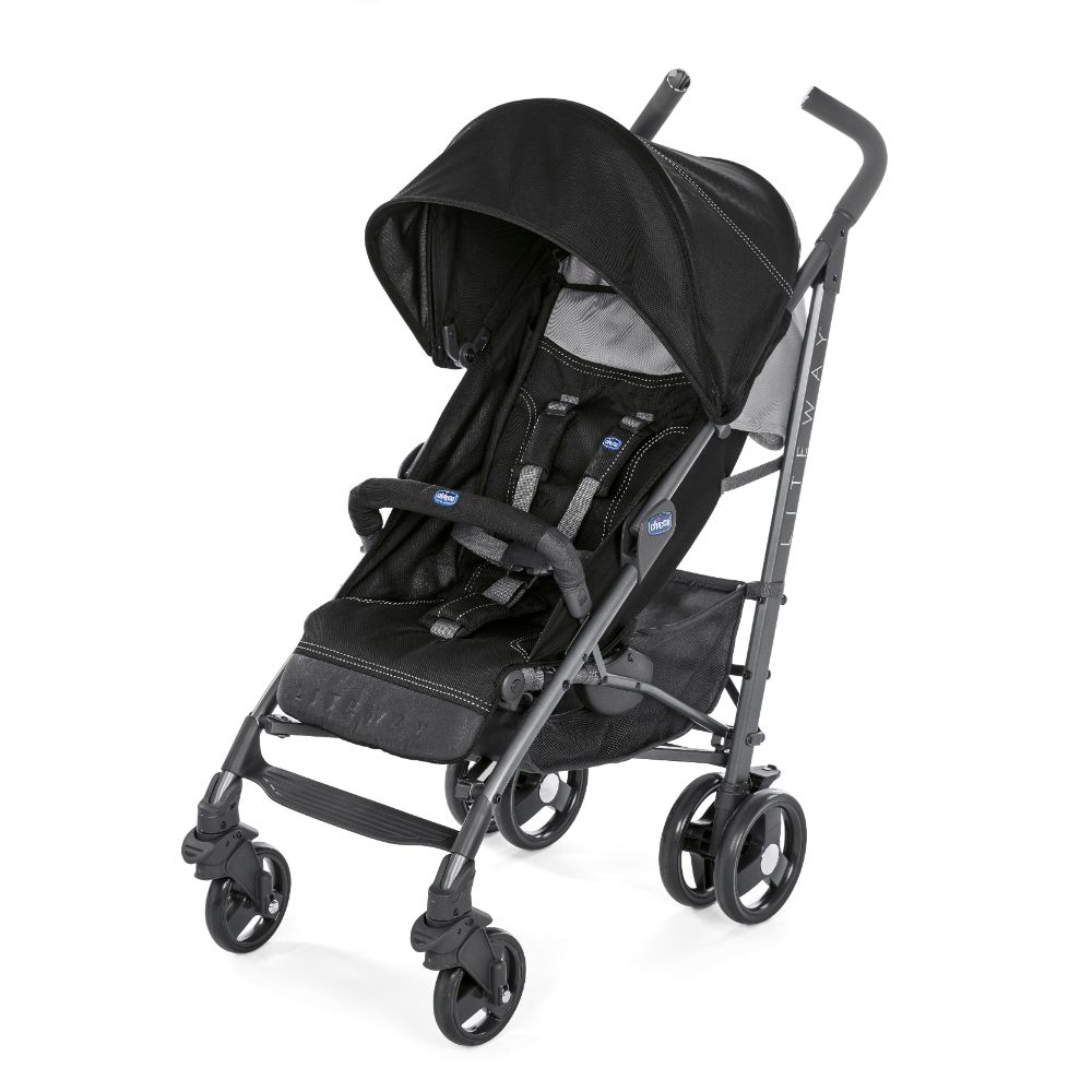 Wózek spacerowy Chicco Lite Wey 3 TOP z pałąkiem do 22 kg, kolor Jet Black