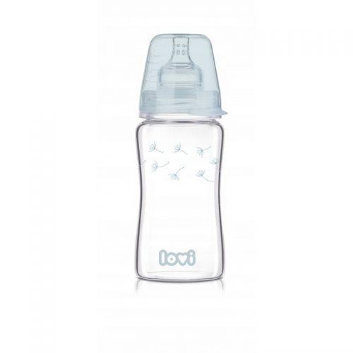 Szklana butelka do karmienia Lovi Diamond Glass 250ml Botanic