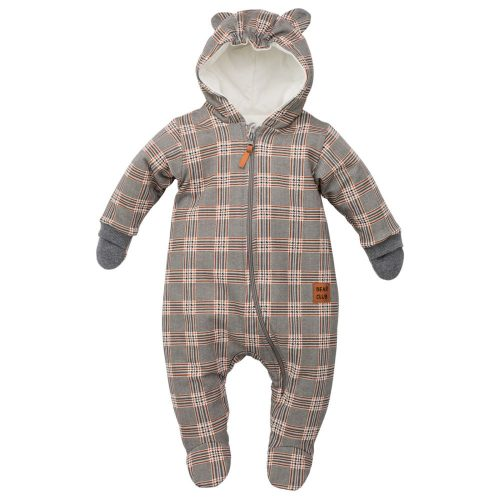 Pinokio kombinezon niemowlęcy Bears Club 68 Kratka