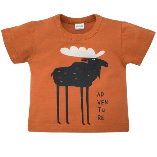 Pinokio bluzka z krótkim rękawem T shirt Bears Club 62 Brąz