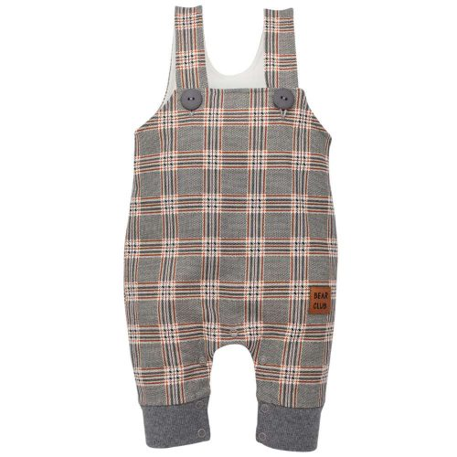Pinokio spodnie ogrodniczki dla dziecka Bears Club 62 Kratka