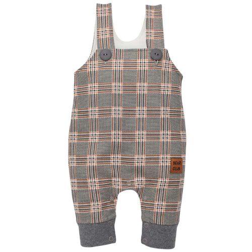 Pinokio spodnie ogrodniczki dla dziecka Bears Club 80 Kratka