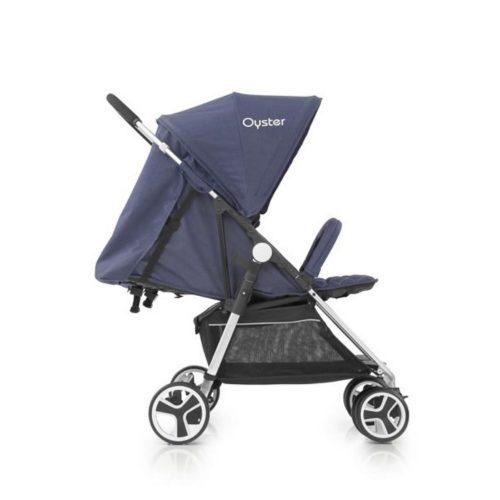 Bliźniaczy wózek spacerowy Oyster Twin kolor Tungsten Grey