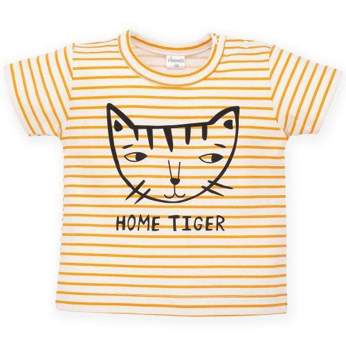 Pinokio T-shirt koszulka z krótkim rękawem Summer Nice Day 68 Paski Żółty