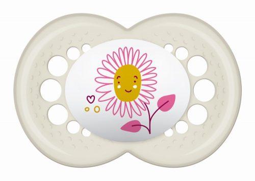 Mam Baby uspokajający smoczek Oryginal 16+ kwiatek beżowy