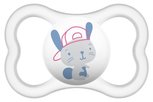 Silikonowy smoczek uspokajający Mam Baby Ari 16+  szary królik