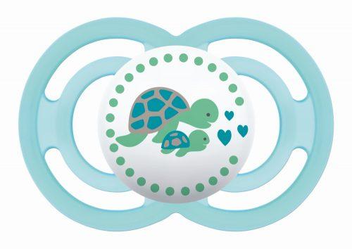Mam Baby smoczek silikonowy uspokajający Perfect 16m+ miętowy żółw
