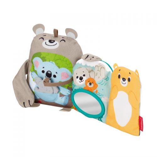 Miękkie zwierzątka ksiażeczka dla niemowląt Fisher Price GJD37