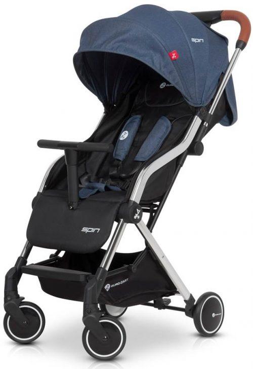 Lekki wózek spacerowy Euro Cart Spin tylko 5,9 kg, kolor Denim