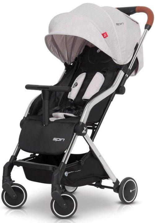 Lekki wózek spacerowy Euro-Cart Spin tylko 5,9 kg, kolor Grey Fox