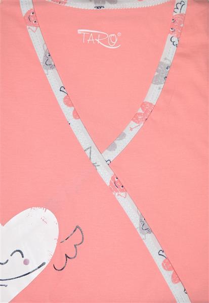 Koszula nocna dla mamy karmiącej z któtkim rekawem Taro Asia rózówa serce L