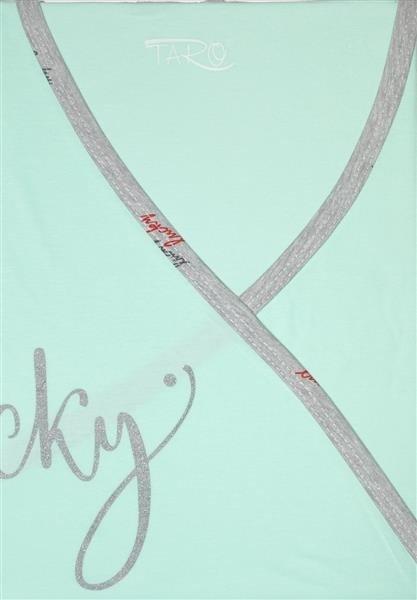 Koszula nocna dla mamy karmiącej z któtkim rekawem Taro Asia pistacja lucky XL
