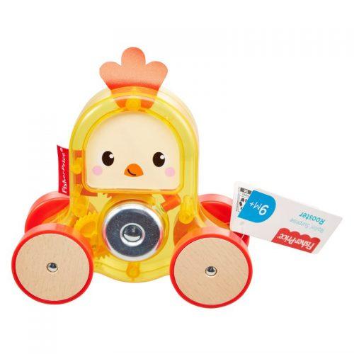 Zwierzaki na kółkach zabawka dla dziecka GMB25 kurczak Fisher Price
