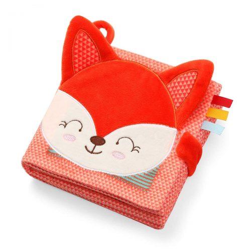 Miękka książeczka dla niemowląt ksiażeczka sensoryczna Babyono Fox Vincent