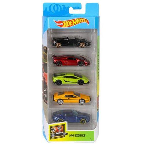 Hot Wheels pięciopak reseorak, autko samochodzik FLY17