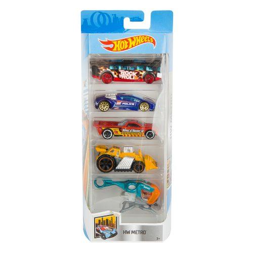 Hot Wheels pięciopak reseorak, autko samochodzik FLY14
