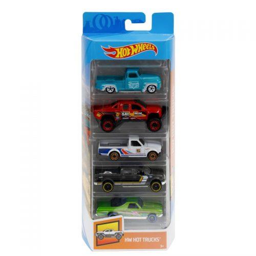 Hot Wheels pięciopak reseorak, autko samochodzik FLY18