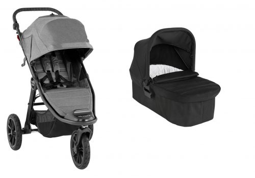 Wózek głęboko spacerowy Baby Jogger City Elite 2 zestaw 2w1 kolor Slate
