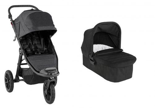 Wózek głęboko spacerowy Baby Jogger City Elite 2 zestaw 2w1 kolor Granite