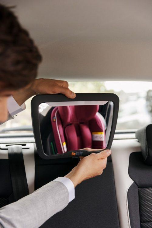 Lusterko dla dziecka do samochodu jazda tyłem Besafe lusterko Xl 2 z lampką