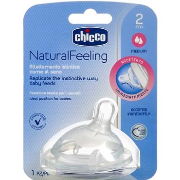 Smoczek silikonowy do butelek Step Up New NaturalFeeling Chicco 0m+ przepływ średni