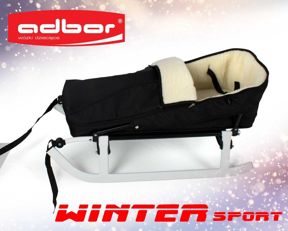 Sanki dla dzieci WInter Sport - składane kolor biały