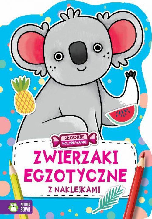 Kolorowanki zwierzaki egzotyczne 32 strony