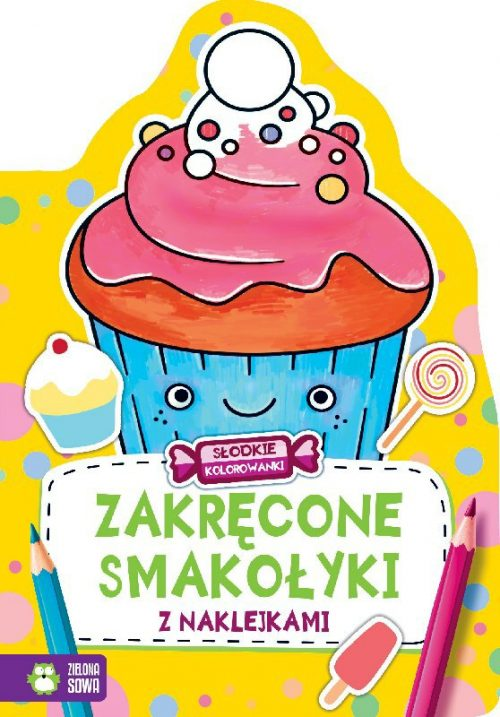 Kolorowanki dla dzieci 32 strony zakręcone smakołyki