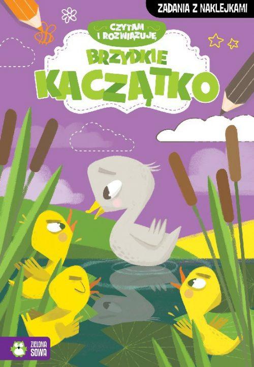 Czytam i rozwiazuje zadania z naklejkami brzydkie kaczątko