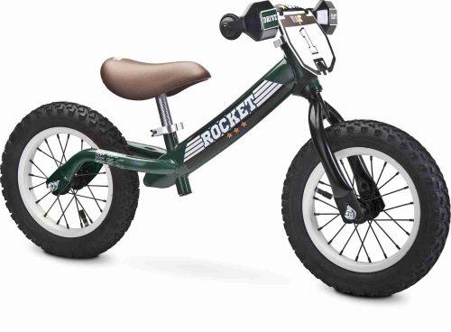 Metalowy rowerek biegowy na pompowanych kołach Rocket Toyz zielony