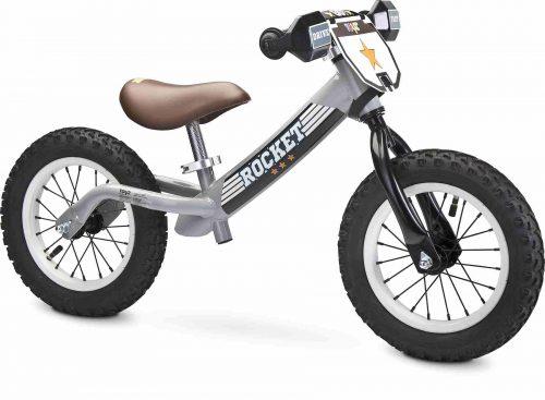 Metalowy rowerek biegowy na pompowanych kołach Rocket Toyz grey