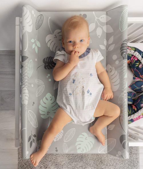 Nadstawka na łóżeczko 120x60 przewijak do łóżeczka Sensillo fale platyna
