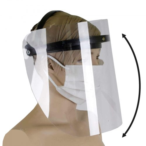 Przyłubica ochronna maska na twarz ruchoma osłona twarzy